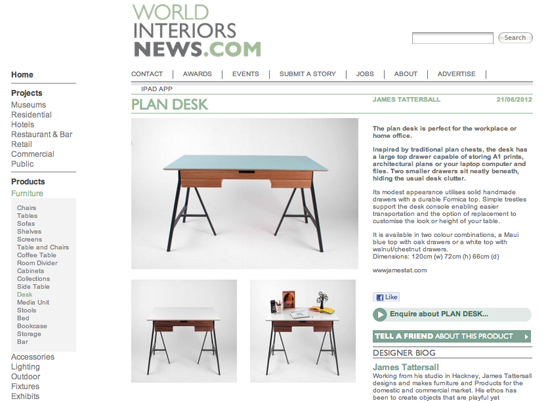 World Interiors News  , 2012