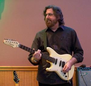 Steve on guitar