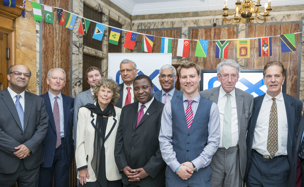 Henry (second from left) with the Secretary General, High Commissioners, MPs, Peers, and the CX team at  our Launch Event