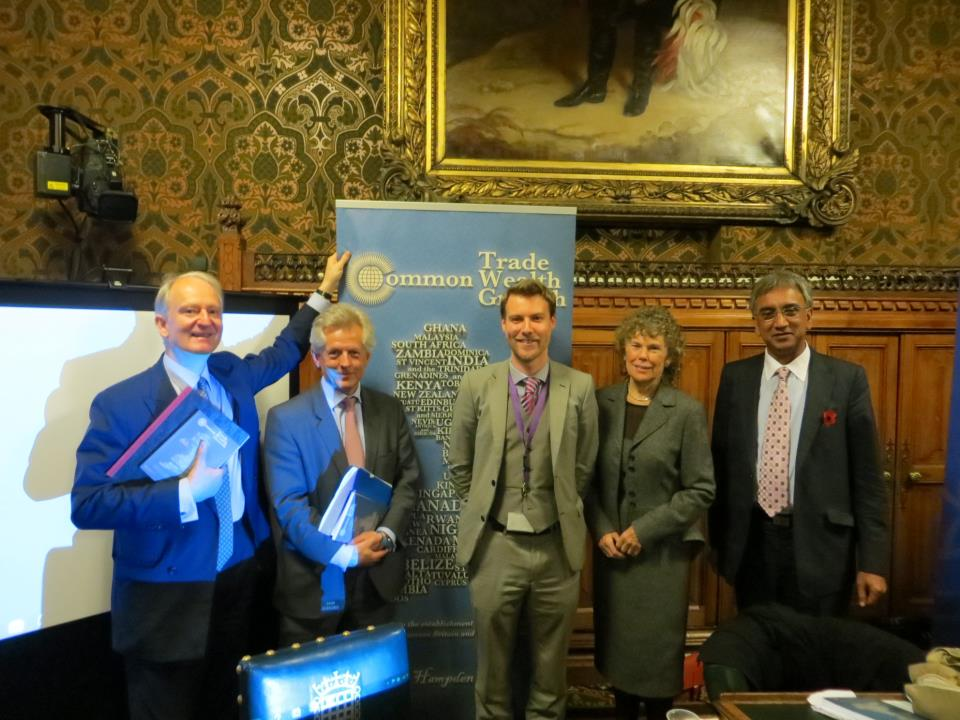 L-R: Henry, Richard Graham MP, CX Exec. Director Tim Hewish, Kate Hoey MP, and Lord Popat at Tim's book launch