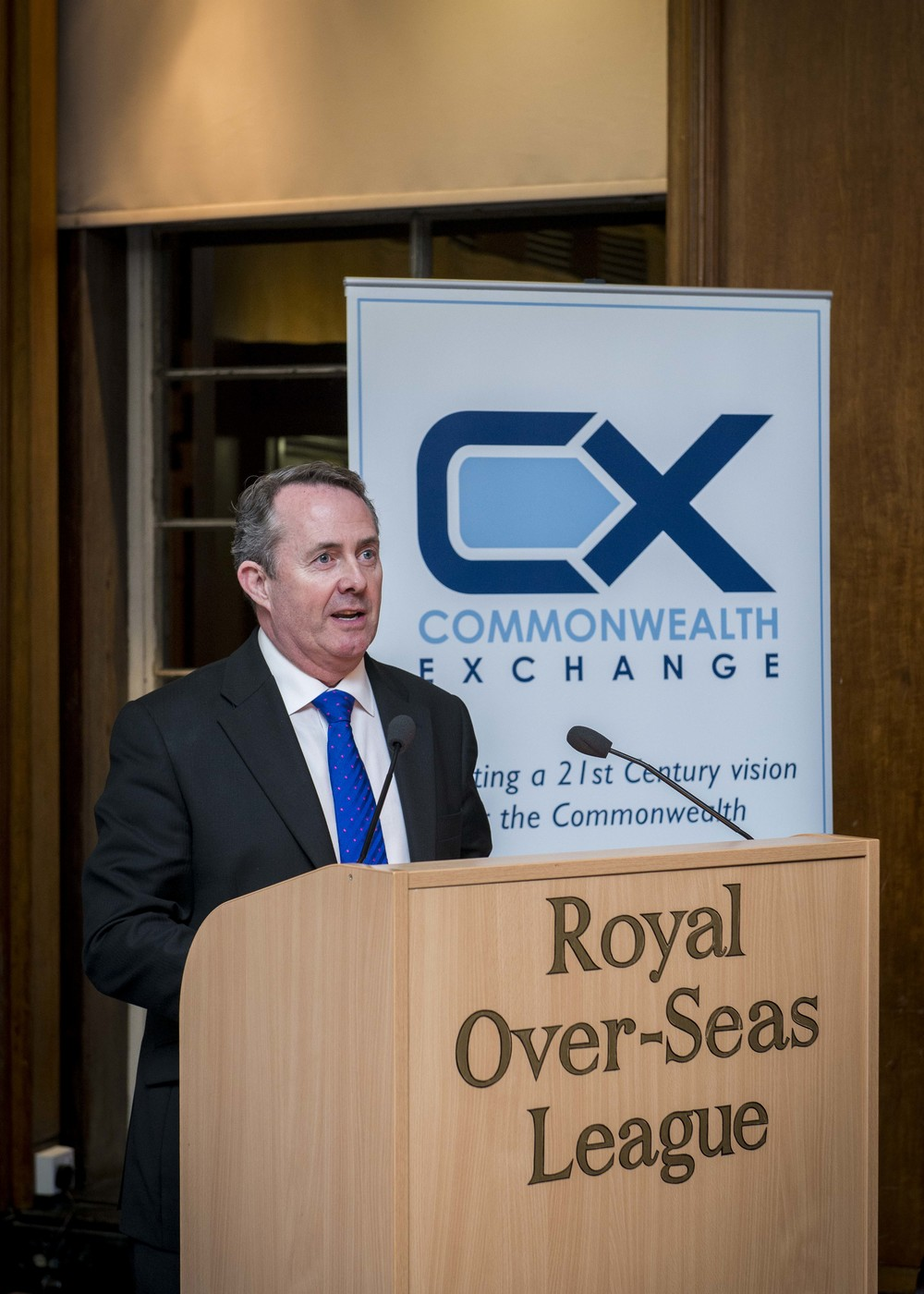 Dr. Liam Fox MP at our defence report launch - March 2015