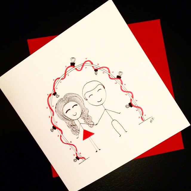 Latest card - custom made for a wedding! Order your wedding cards at www.boyheartsgirl.etsy.com #BoyHeartsGirl