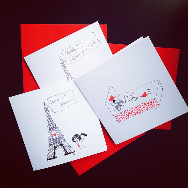 #Paris seems to be quite popular these days! ❤️#boyheartsgirl #cards #greetingcards #etsy #etsyshop #custom
