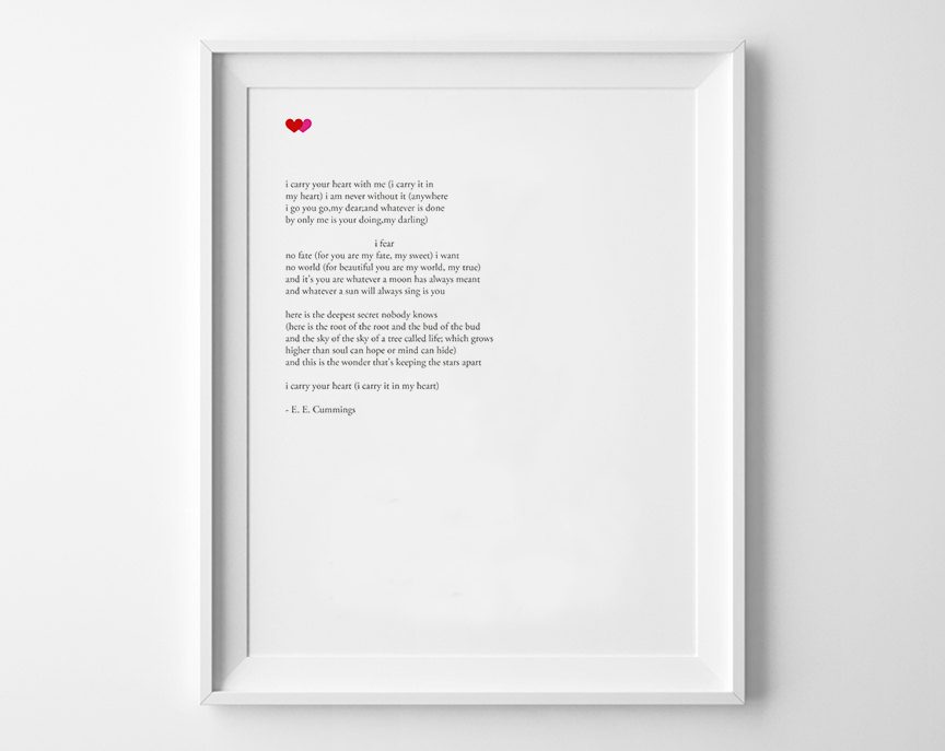 I carry your heart poem Framed.jpg