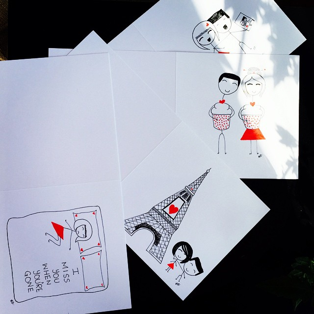 Cards going out today. Get your cards at: boyheartsgirl.etsy.com #BoyHeartsGirl