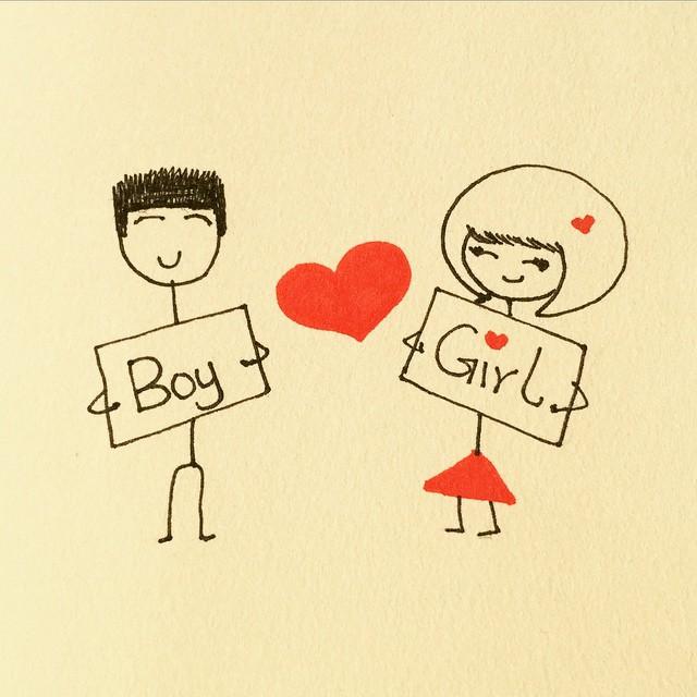 #logo #BoyHeartsGirl #etsy #redandblack #art