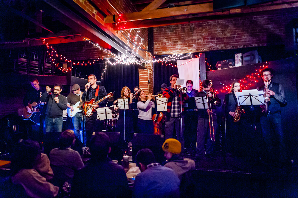 The full orchestra at IOTA