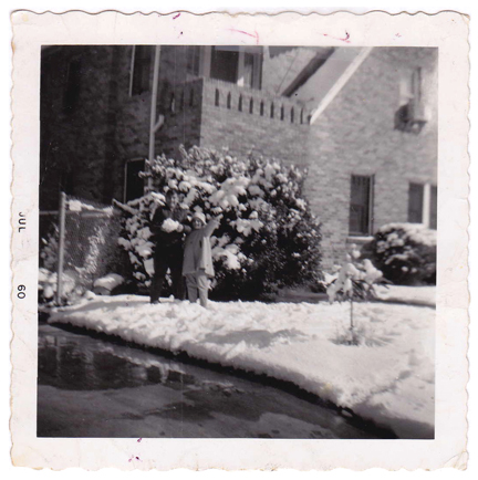Above:  1959 Snow Day!