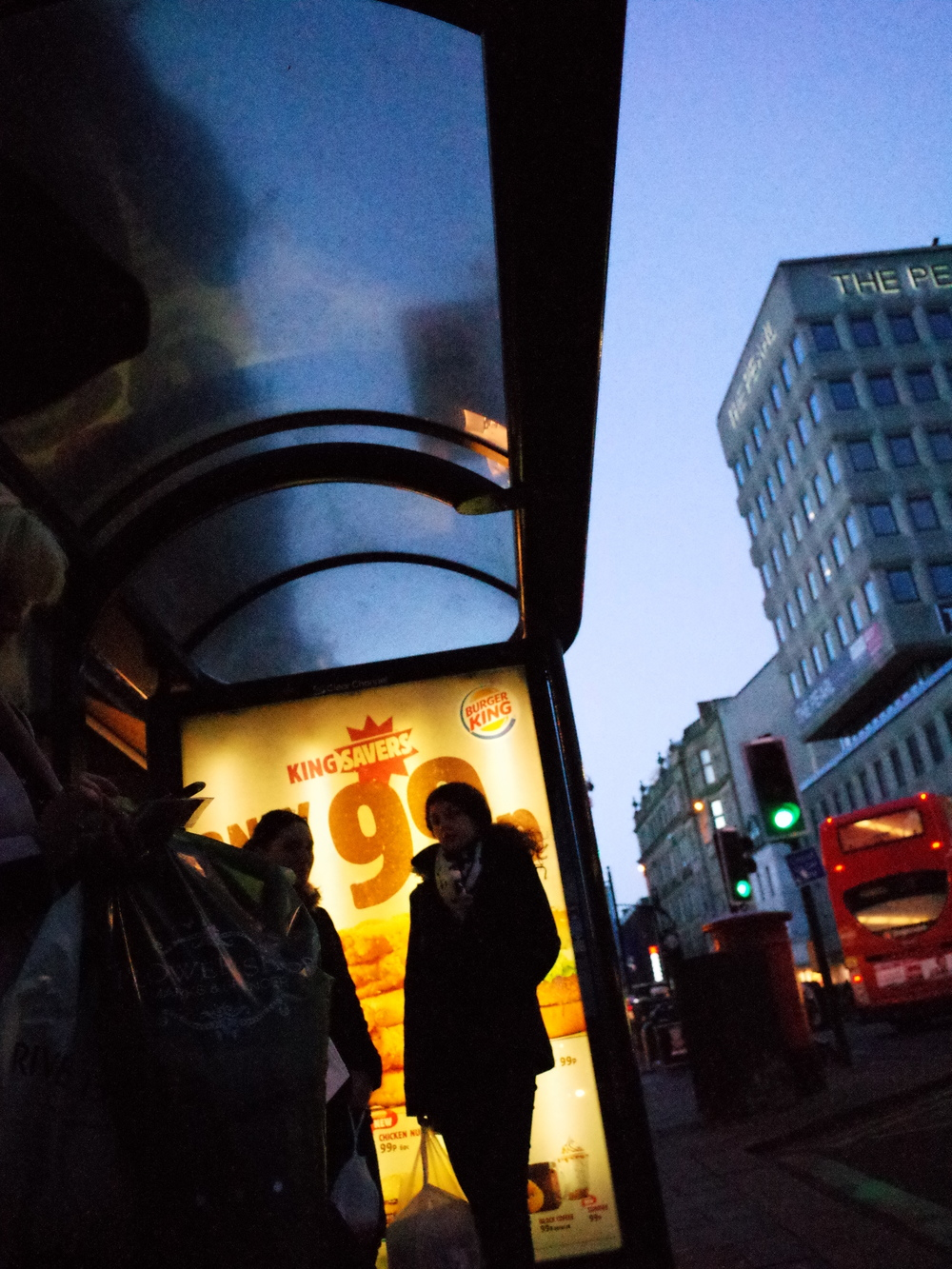Bus stop. ISO 12,800