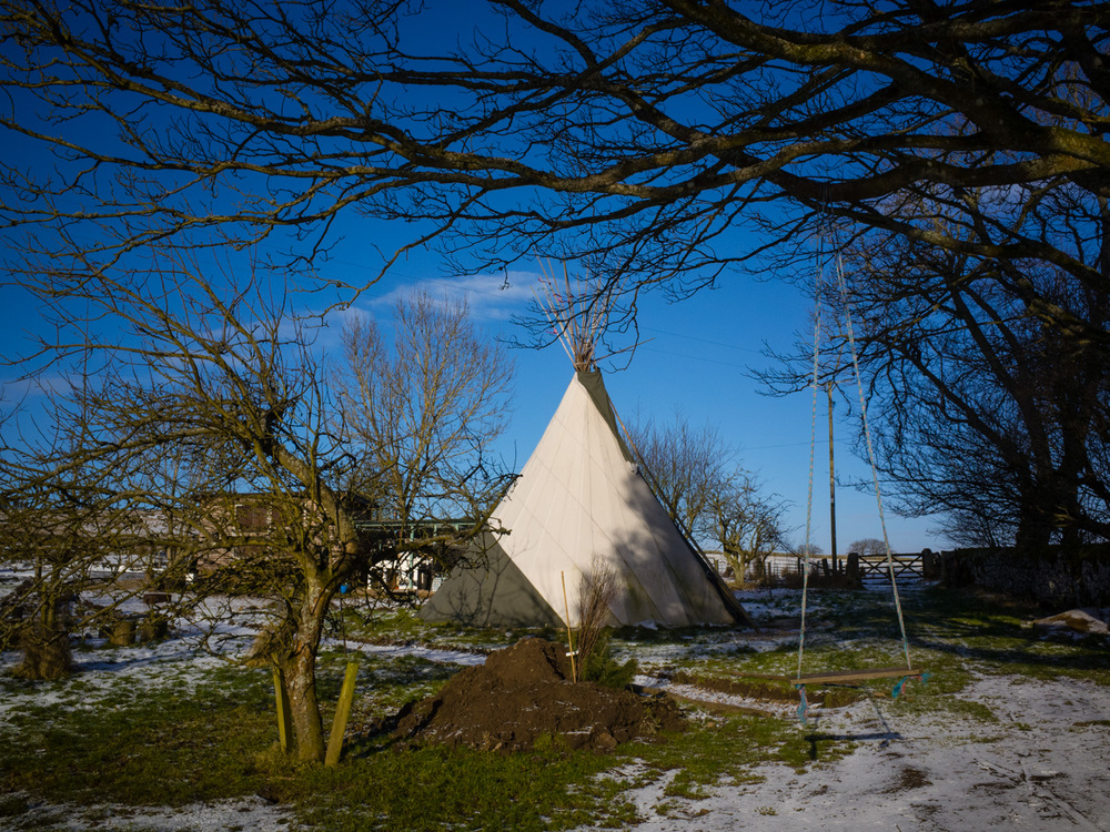 Tipi's are also available to rent, although a little cold for the winter, they'd be great for a group of friends in the warmer months.