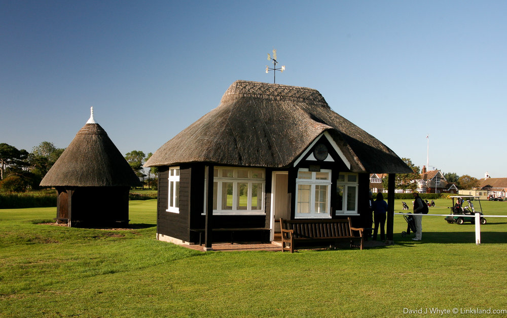 The cute little starter's hut at Royal St Georges