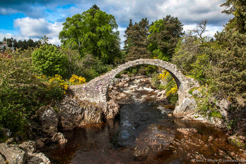 The Pack Horse Bridge across the River Dulnain was built in 1717, the oldest bridge in the Highlands