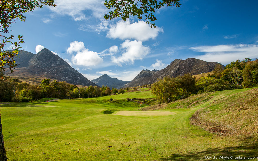 The greens might be small but the views are majestic at Corrie Golf Club on the east side of the island