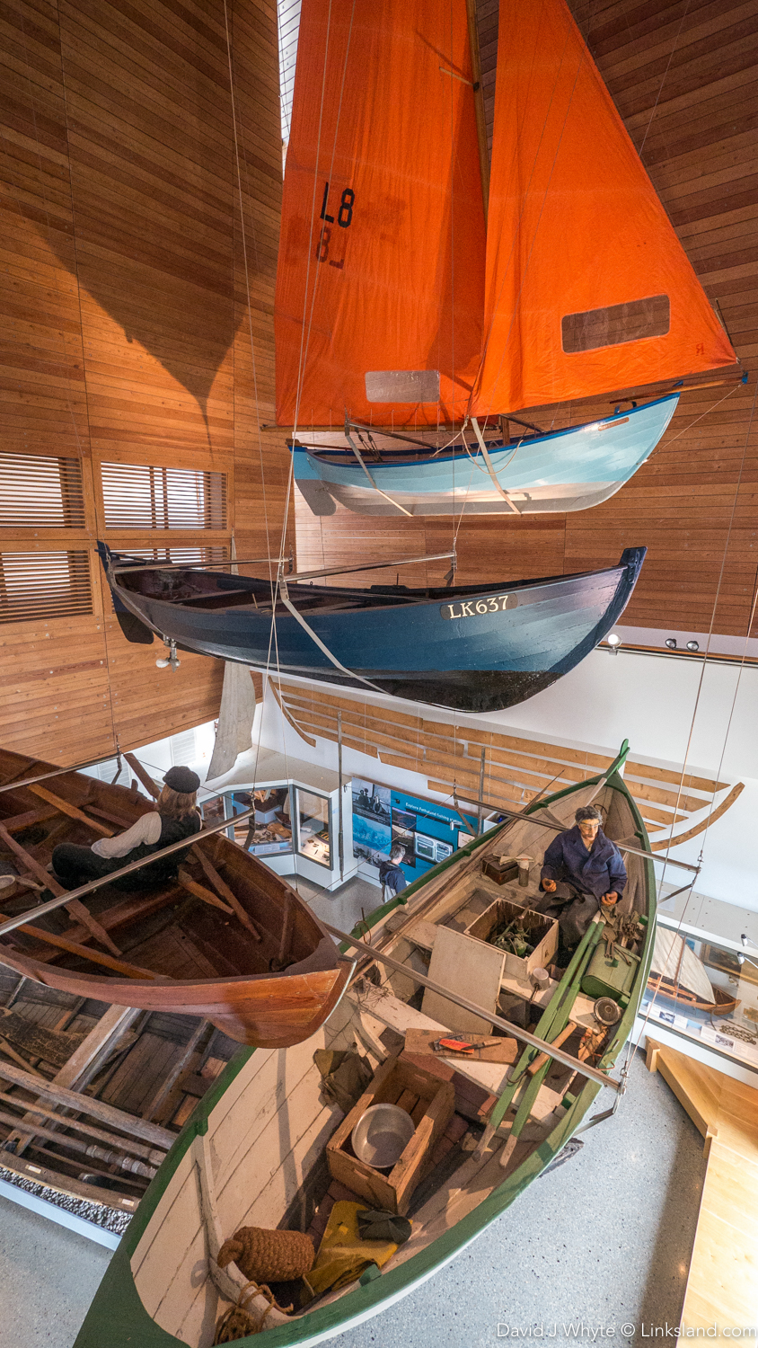 Floating boats - Shetland Museum's three-storey boat hall