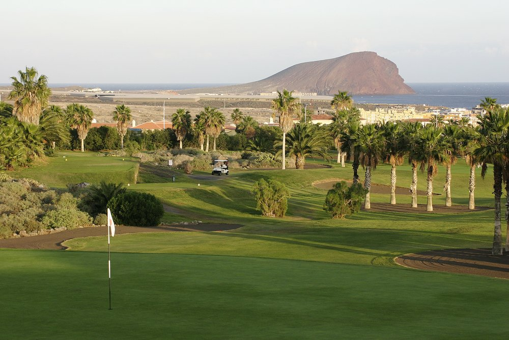 Golf del Sur is famous for its black sand bunkers