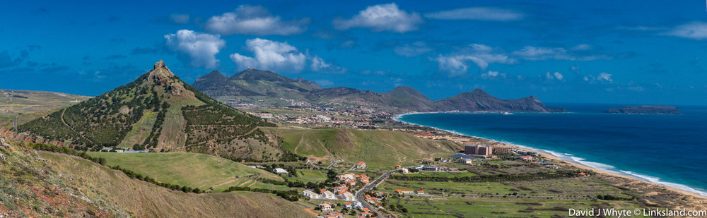 The island of Porto Santo was built around a string of volcanoes