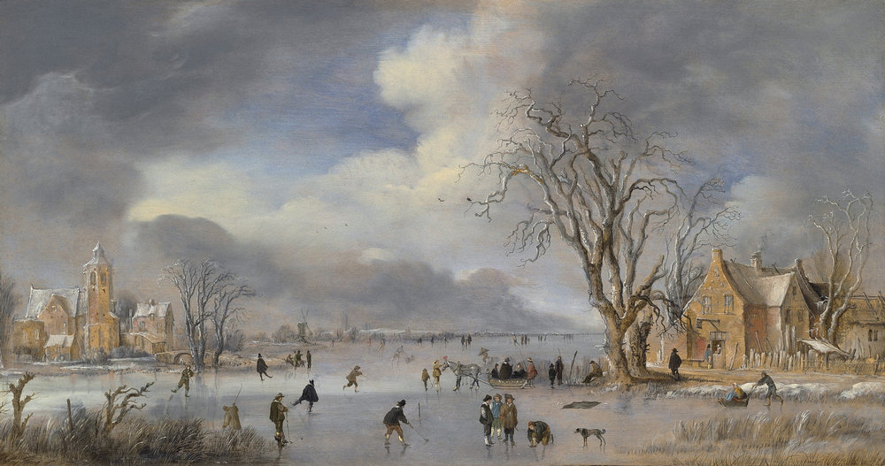 Aert_van_der_Neer_-_Winterlandschap_met_schaatsers_en_kolfspelers_ca_1642.jpg