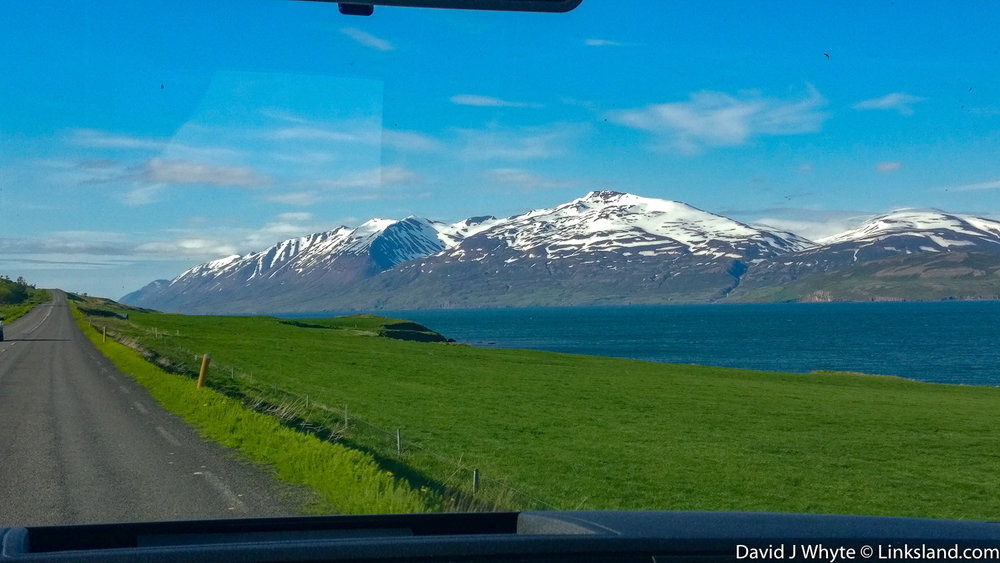 Looking at the world through a windscreen - we were taking the high road to Siglufjörður (aka Siglo), North Iceland