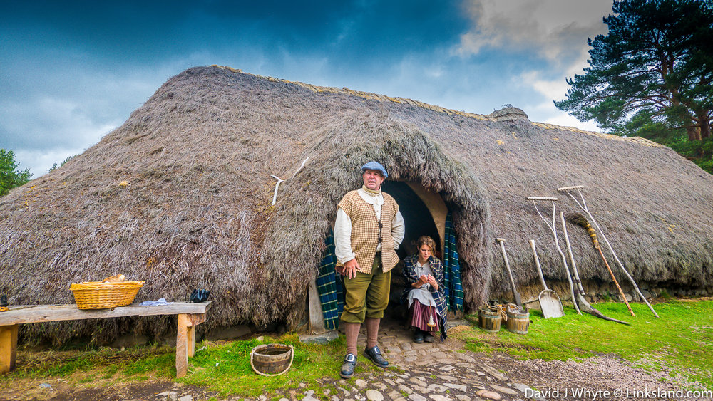 The recreated township at the Highland Folk Museum in Newtonmore was used as a filming location for the hugely successful TV series 'Outlander'.