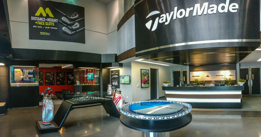 Main entrance to the Taylormade facility in Carlsbad