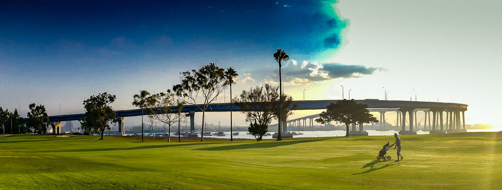 The bridge over to Coronado looks precarious but the community's municipal course is a much more solid track.