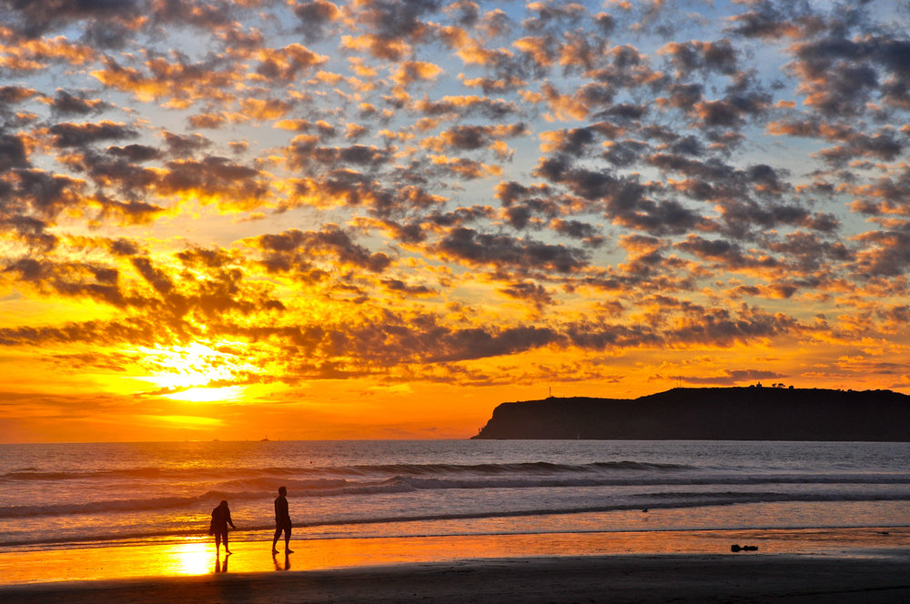 Coronado Beach at sunset