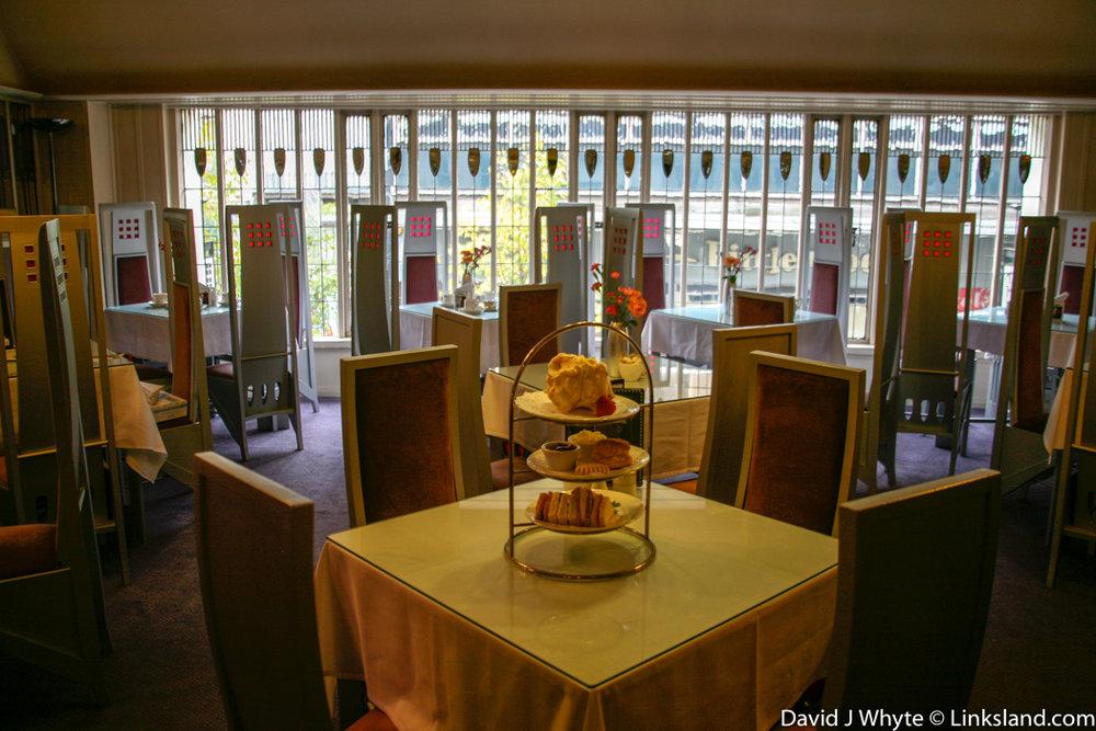 Glasgow's Willow Tearoom preserves Charles Rennie Mackintosh's original Art Nouveau style