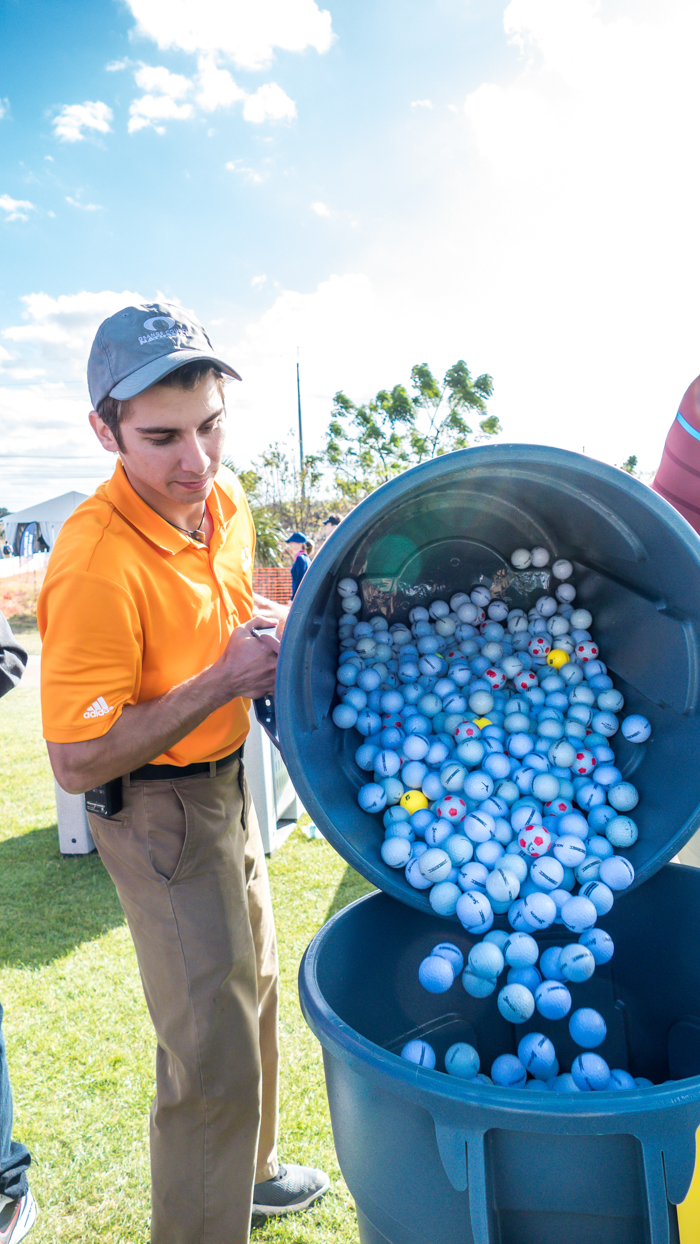 All the balls need sorted and returned to their respective companies by a dedicated team.