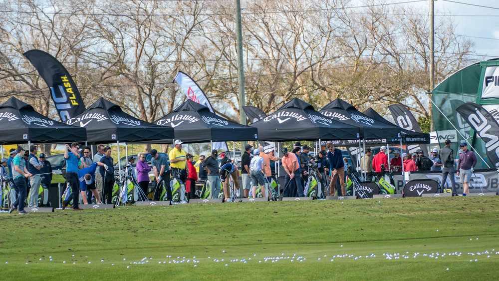 Golf equipment companies showcase their newest clubs, golf balls, grips, scoring clinics, club fitting best practices, instructional aids, and much more during Demo Day.