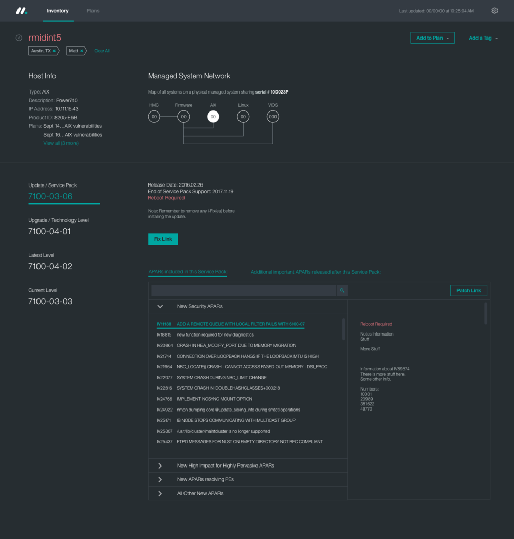 System Detail Page