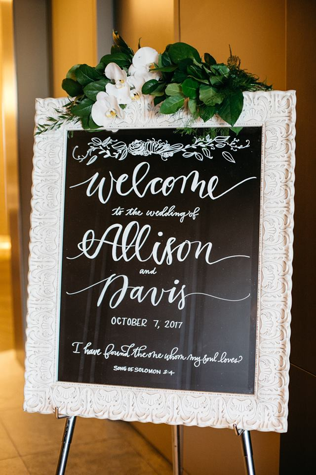 Calligraphy|| Moi  Wedding Planner ||  Aisle be with you   Photographer ||  Josh McCullock