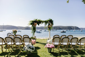 Beach Front Weddings  C B Ceremony Styling  C B The Boathouse Palm