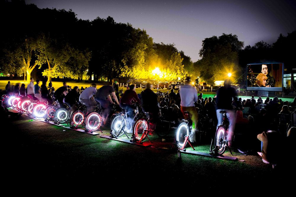Bicycle powered cinema