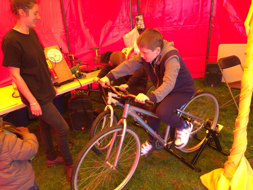 Providing the pedal power for the party! © Phoenix Community Housing