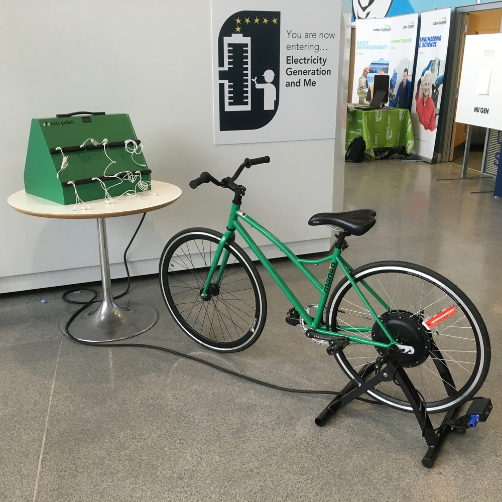 Bicycle-Powered 8-Way Phone Charger