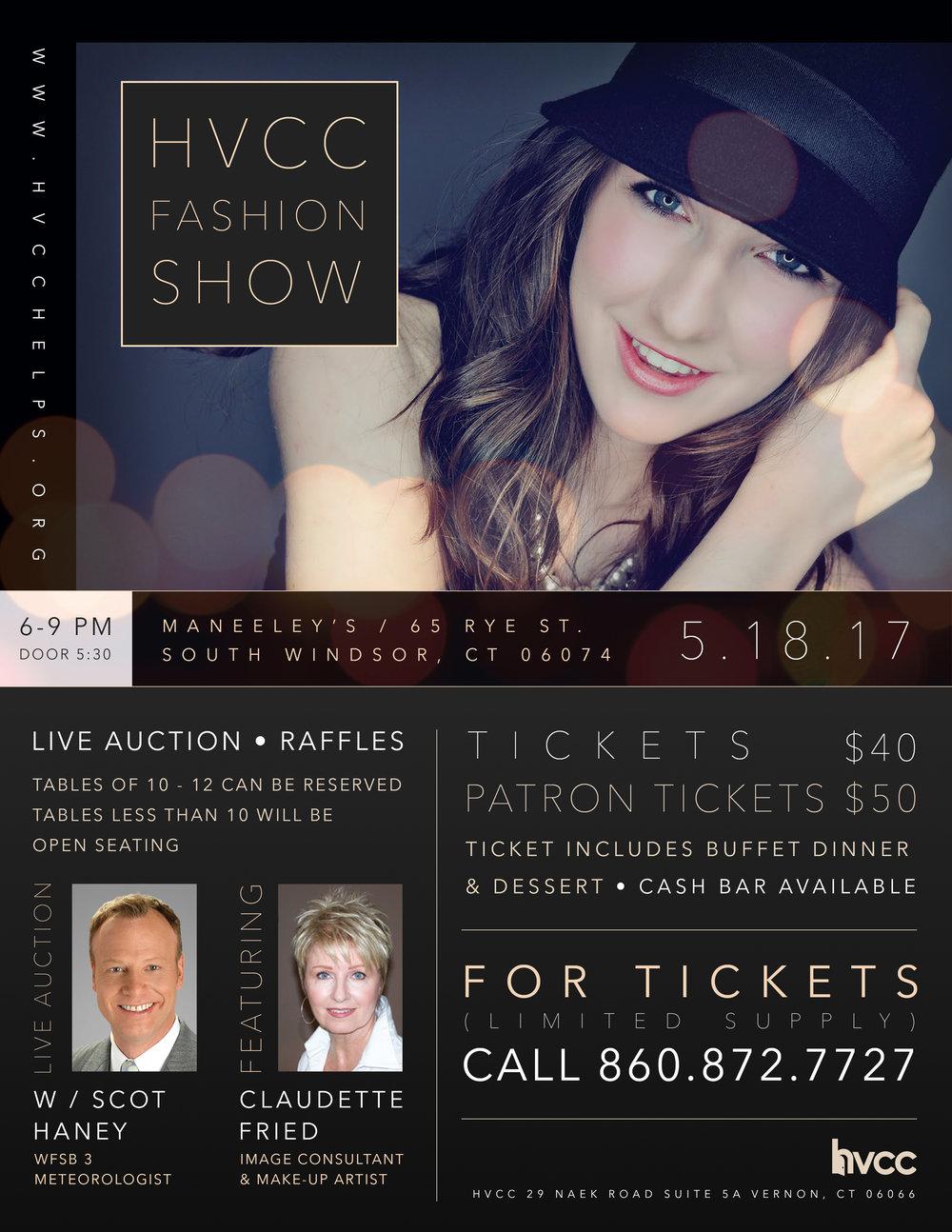 HVCC fashion show promotion • Print/Web