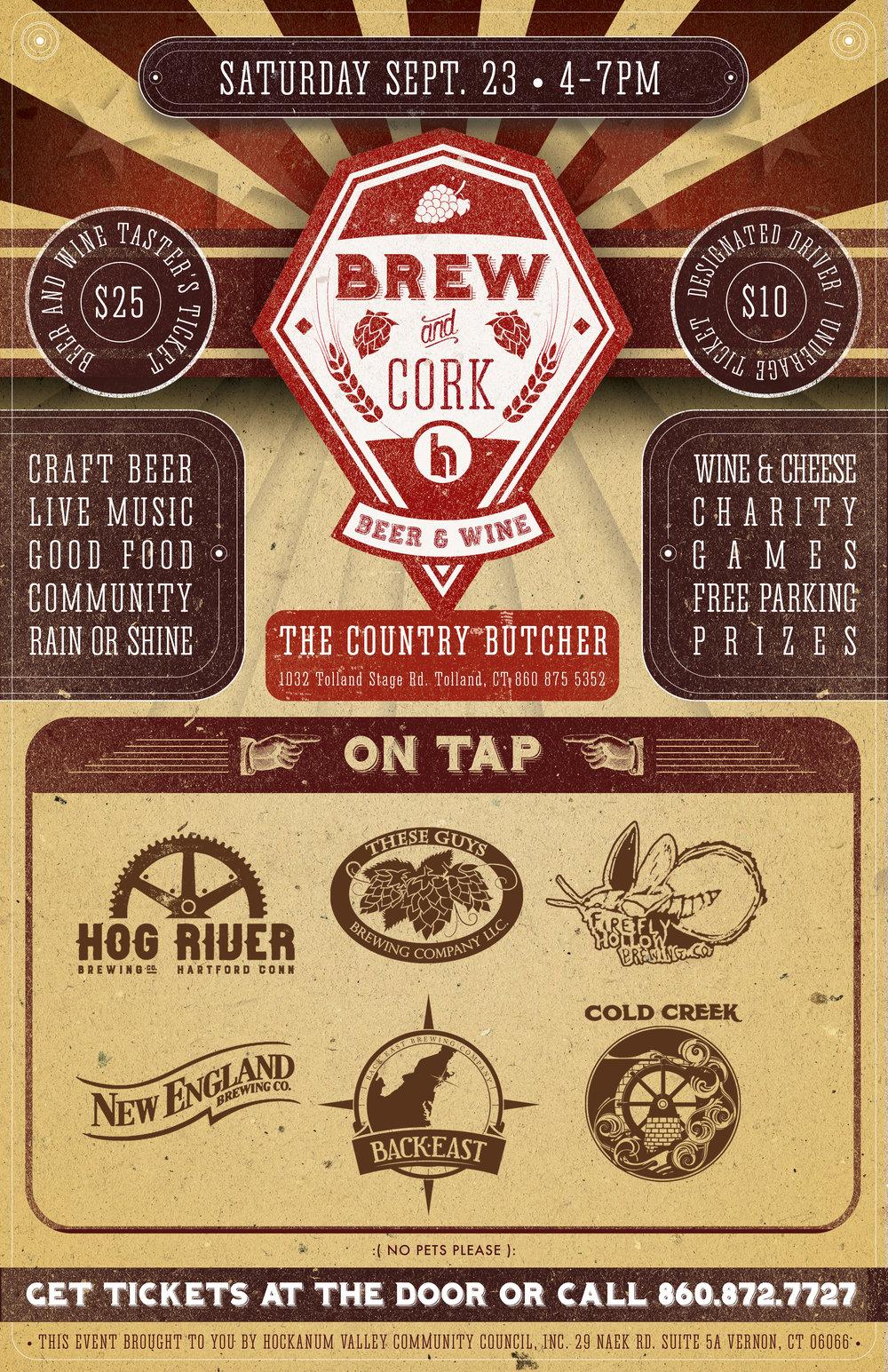 brew & cork beer and wine • Print