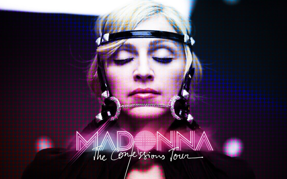 Madonna, The Confessions Tour, graphics.