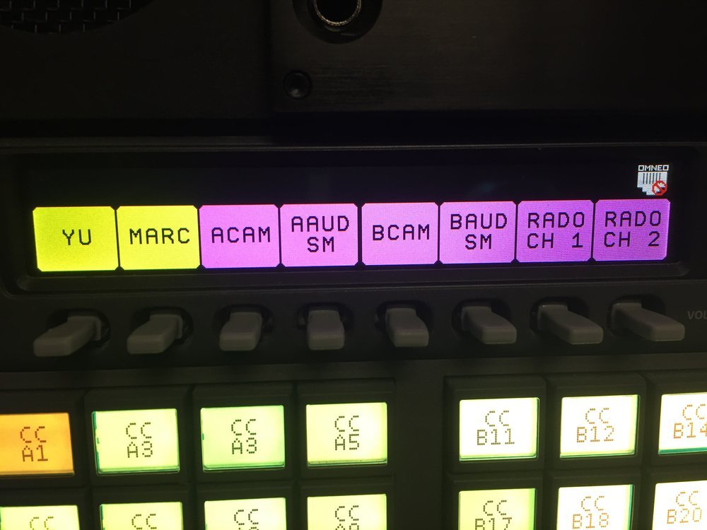 Omneo panel keys