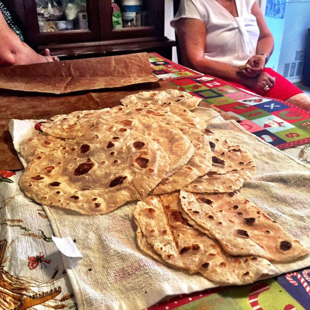 Carla's homemade tortillas. Photo courtesy Emilia M. Guevara
