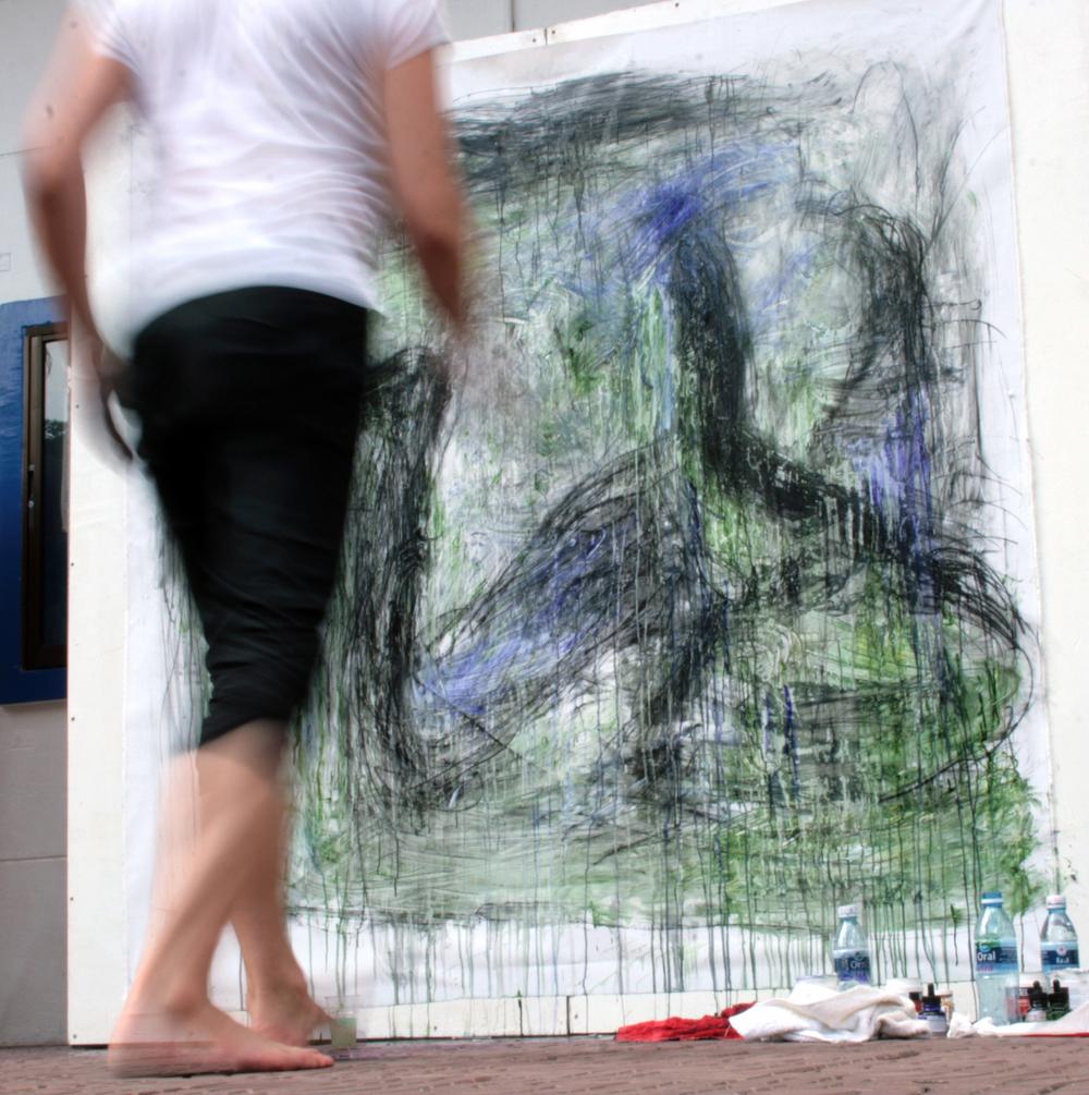 Performance Painting, 2012 - Photo ©Stéphanie Dupuis
