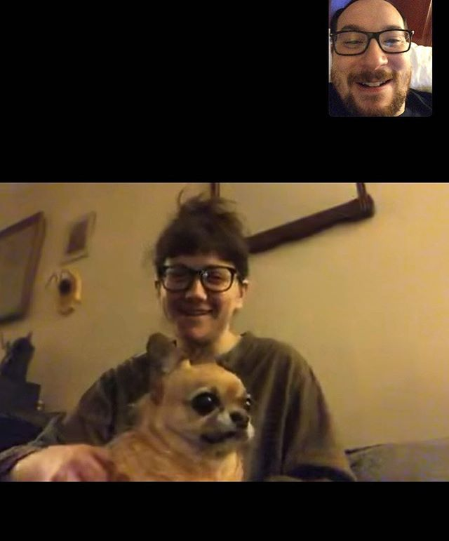 Smiles, dog, glasses.  #bouldertobrooklyn