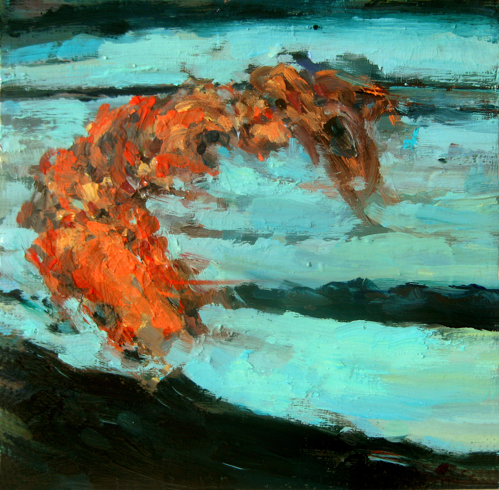 "Undertow, oil on board, 8"" x 8"", 2011"