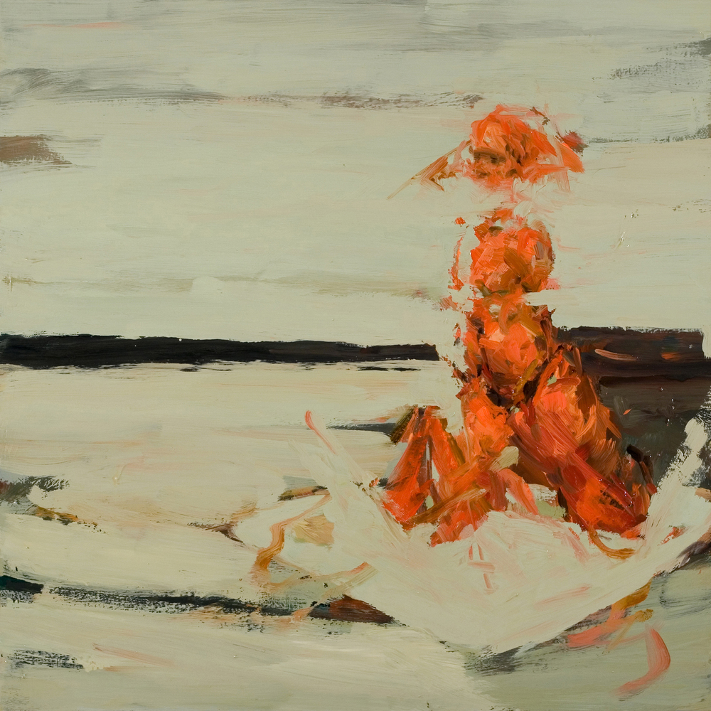 "At Sea, oil on board, 16"" x 16"" x 2"", 2010"