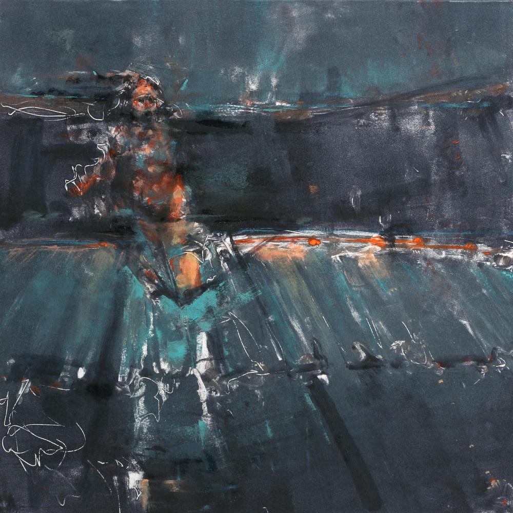 """'Torque', monotype, 11"""" x 11"""", 2013"""