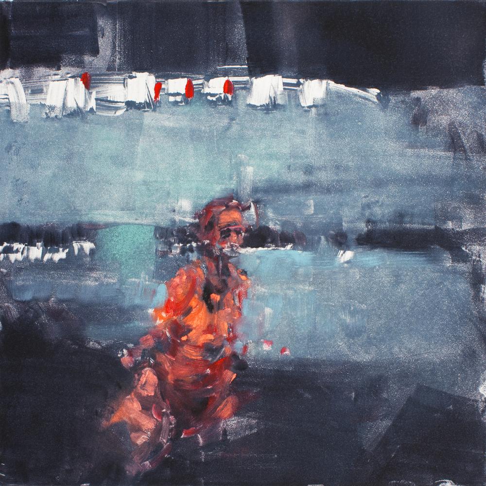 """'Dissolve I', monotype, 11"""" x 11"""", 2013"""