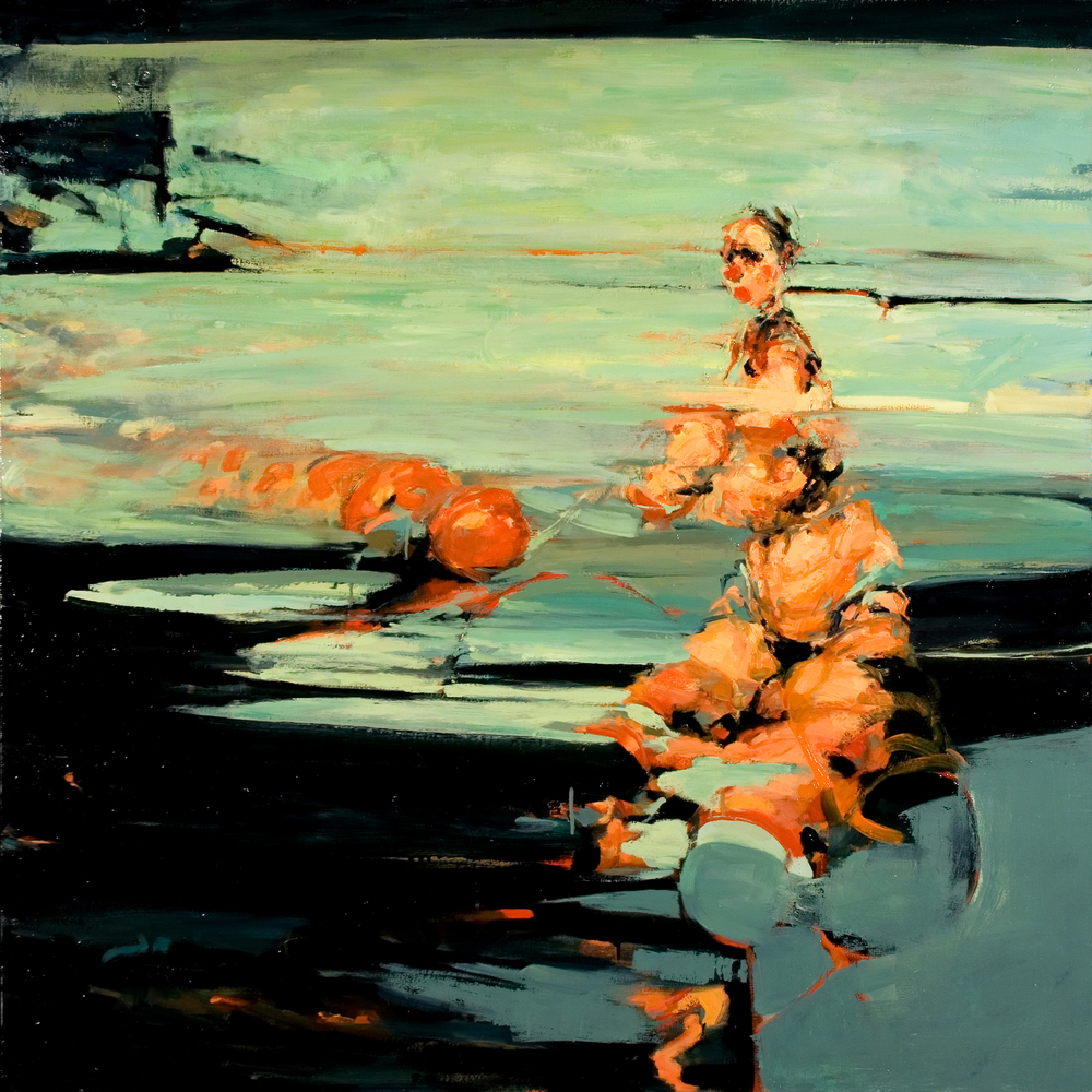 "Bound, oil on canvas, 46"" x 46"" x 2"", 2009"
