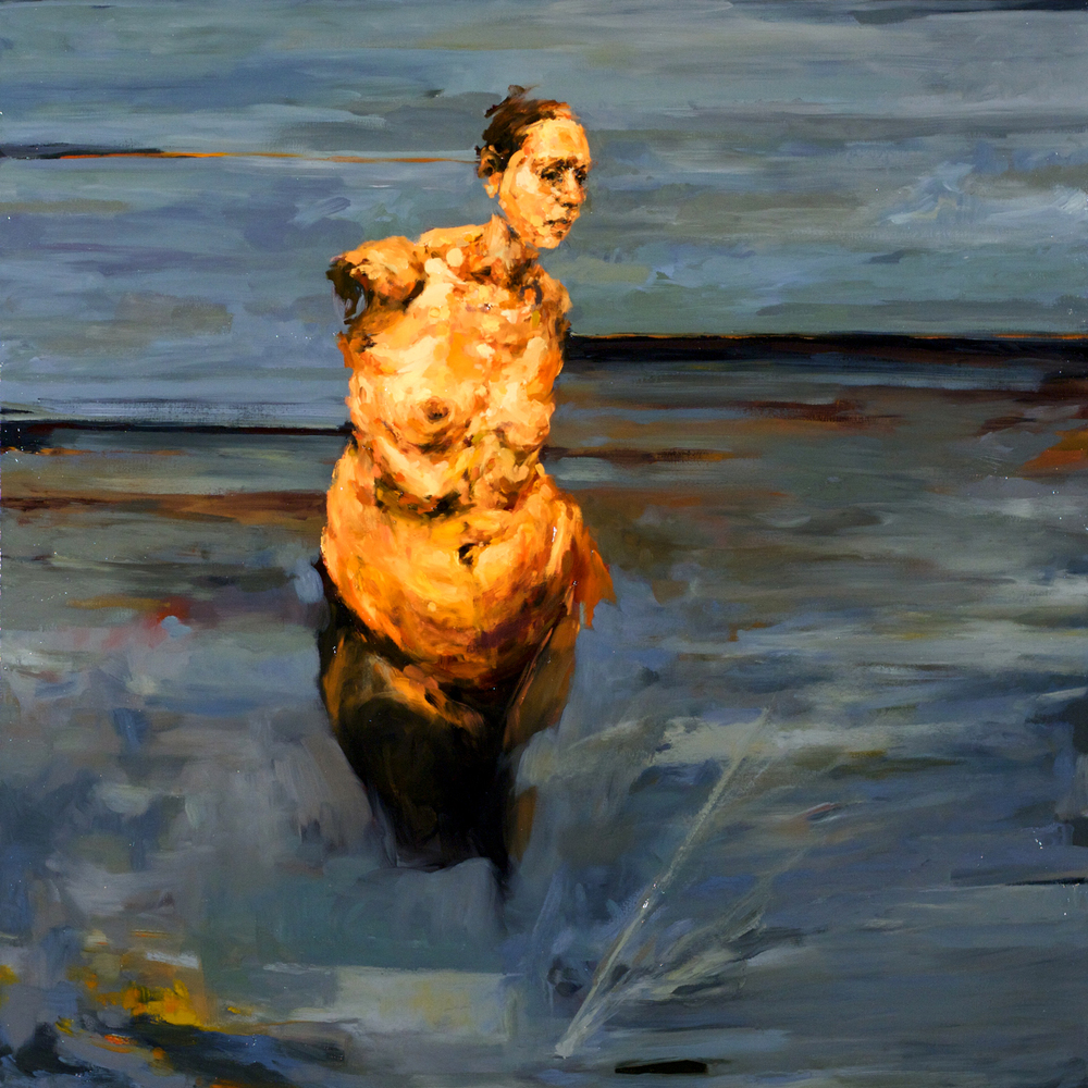"Collateral, oil on canvas, 46"" x 46"" x 2"", 2008"