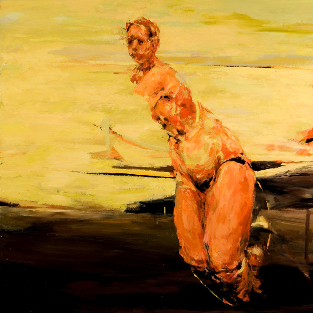 "Preemptive, oil on canvas, 42"" x 42"" x 2"", 2007"