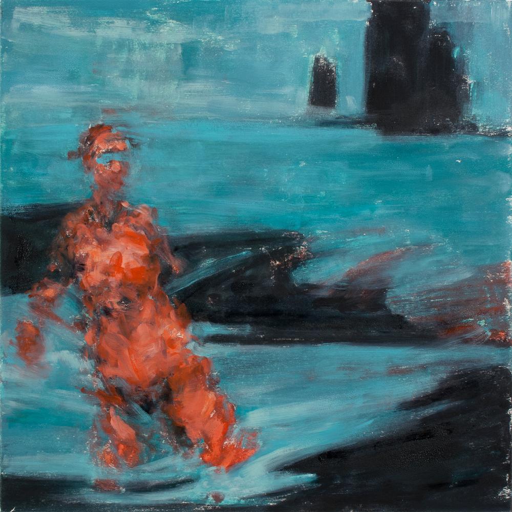 """'Adrift', monotype, 11"""" x 11"""", 2012"""